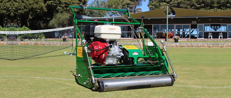tennis croquet court mower mow master